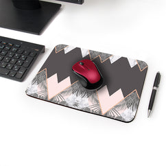 Pastel Mountain Designer Leather Mouse Pad