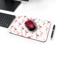Pastel Swan Designer Leather Mouse Pad