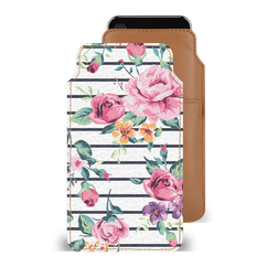 Pink Bloom Streak Smartphone Pouch For iPhone 6