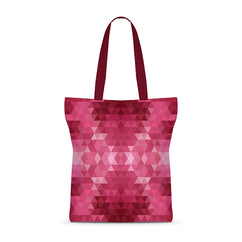 Pink Geometry Basic Tote Bag