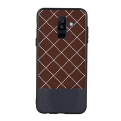 Quilted Rhombus Case For Galaxy A6 Plus