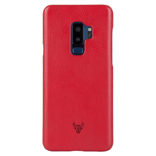 Ruby Red Premium Leather Case For Galaxy S9 Plus