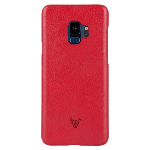 Ruby Red Premium Leather Case For Galaxy S9