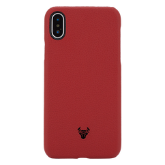 Ruby Red Premium Leather Case For iPhone X