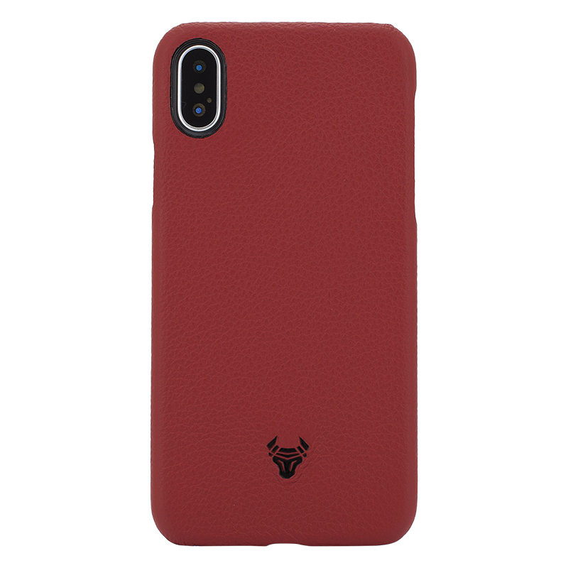 Ruby Red Premium Leather Case For iPhone Xs