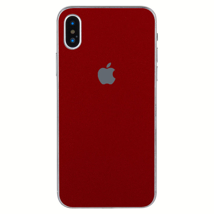 Solid Red Flaunnt For iPhone X