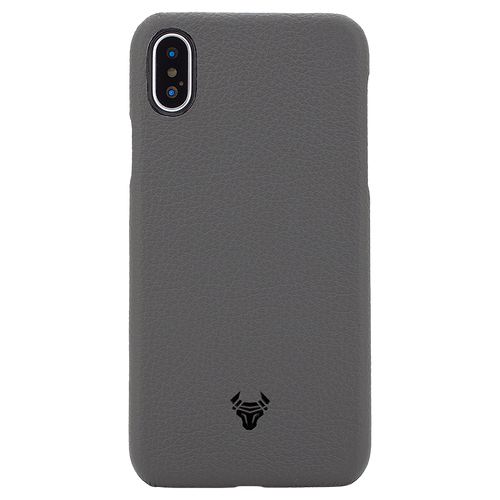 Space Grey Premium Leather Case For iPhone X