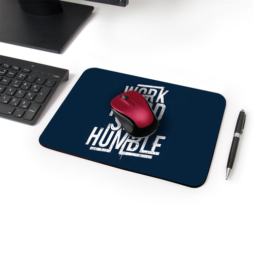 Stay Humble Designer Leather Mouse Pad