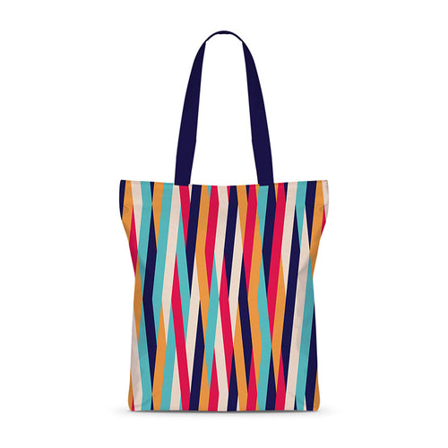Striped Mat Basic Tote Bag