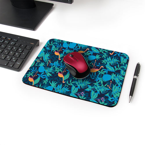 Swan Corona Designer Leather Mouse Pad