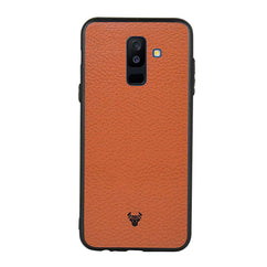 Tan Leather Case For Galaxy A6 Plus