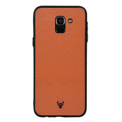 Tan Leather Case For Galaxy J6