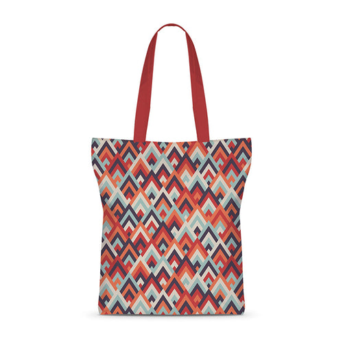 Tribal Abstract Life Colors Basic Tote Bag