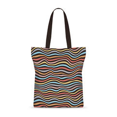 Trippy Crazy Waves Basic Tote Bag