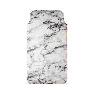 White Marble Smartphone Pouch For Vivo V5