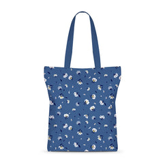 Winter Floral Bliss Basic Tote Bag