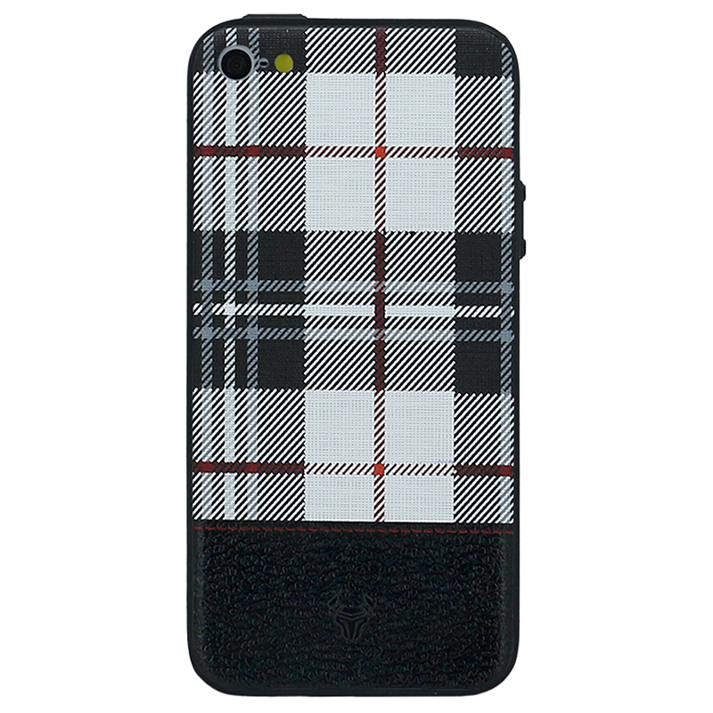 Checkered White Case For iPhone 5s