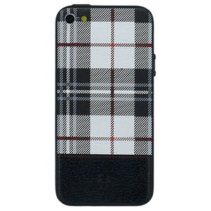 Checkered White Case For iPhone SE