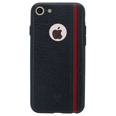 Leather Stripes Case For iPhone 7