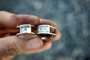 Follow Your Dreams - A Double Banded Ring