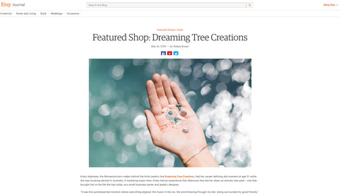 Dreaming Tree Creations Etsy's Featured Artist