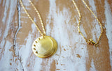 moonshadow crescent moon long necklace