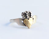handcrafted modern claddagh ring irish claddagh ring