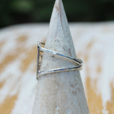 side view of the Swell Ring by Dreaming Tree Creations