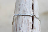 hammered simple silver bar bracelet