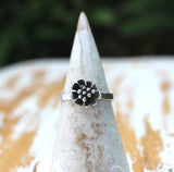 Daisy flower ring by dreaming tree creations silver flower jewelry