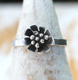 Daisy ring flower ring by dreaming tree creations