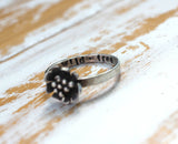 Daisy ring handcrafted by Dreaming Tree Creations