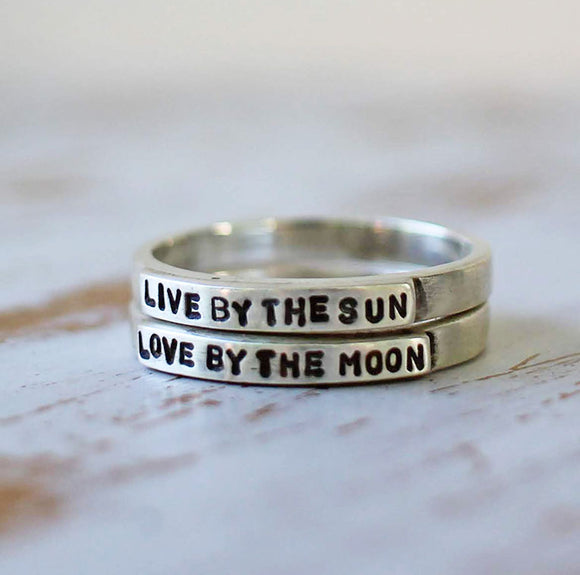 SAY IT, Live by the Sun Love by the Moon Stacking Rings