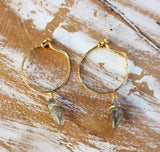 Freckle Hoops in Gold