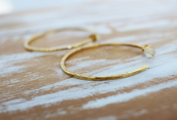 gold hoop earrings handcrafted