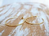 90s style handcrafted gold hoop earrings