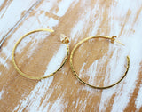 stunning gold hoop earrings