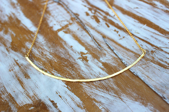 Golden Lining Necklace choker adjustable length