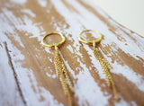 dangle hoop earrings gold