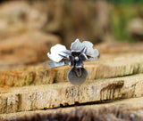 Sterling Silver Statement Ring flower ring