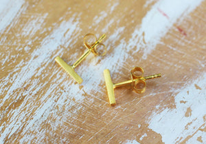 Line Up Earrings in Gold