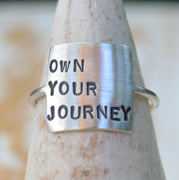 OWN YOUR JOURNEY empowerment jewelry by Dreaming Tree Creations