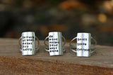 examples of custom quote statement rings
