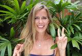 get silly with this quirky and unique peace sign necklace, boho fashion jewelry