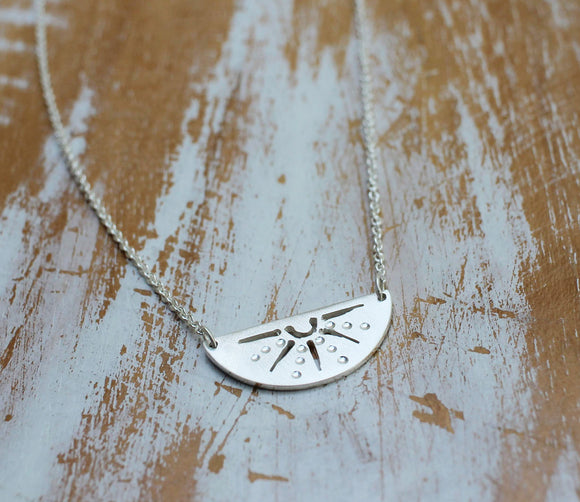 Walking on Sunshine Necklace in Silver