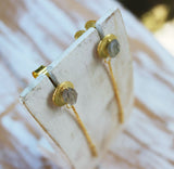 Solaris Drop Earrings in Gold