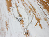 custom silver square quote necklace hand stamped