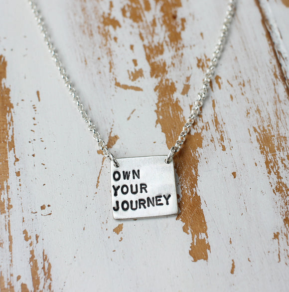 own your journey women empowerment necklace