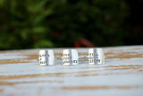 custom silver square quote rings by Dreaming Tree Creations