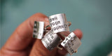 OWN YOUR JOURNEY handcrafted square quote rings by Dreaming Tree Creations